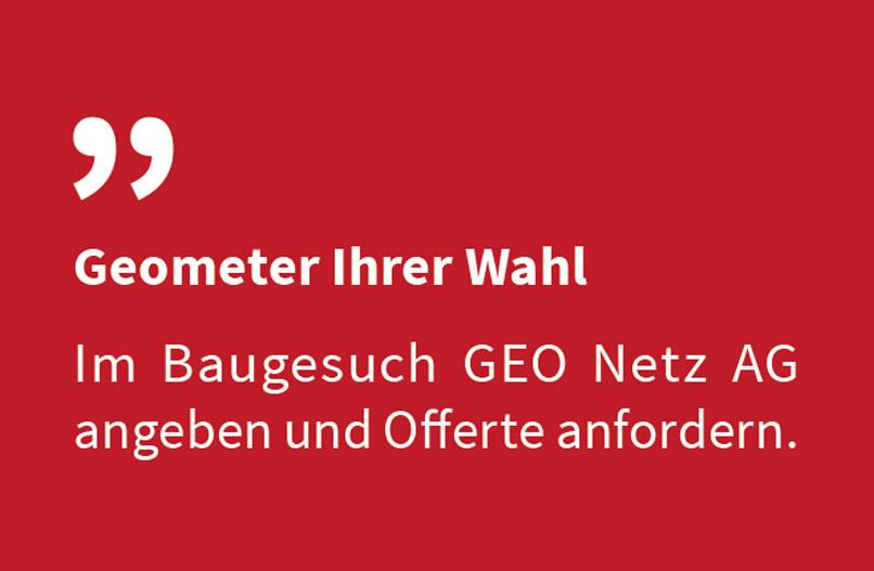 GEO Netz Schwyz Geometer Ihrer Wahl